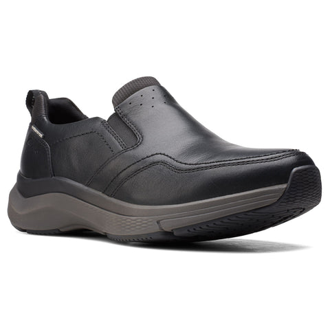 Clarks Wave2.0 Edge Black Waterproof Leather at Mar-Lou Shoes