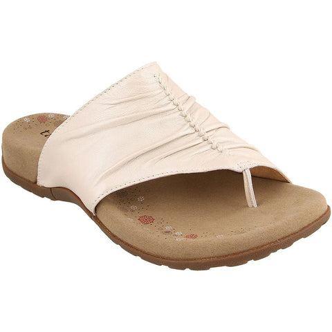 Taos Gift 2 Sandal in White Pearl Leather at Mar-Lou Shoes
