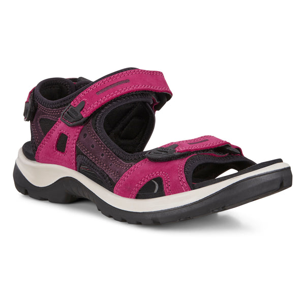 Ecco Women's Yucatan Sandal Sangria Fig at Mar-Lou Shoes