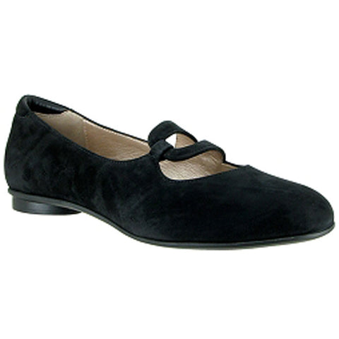 Aline Flat in Black Suede