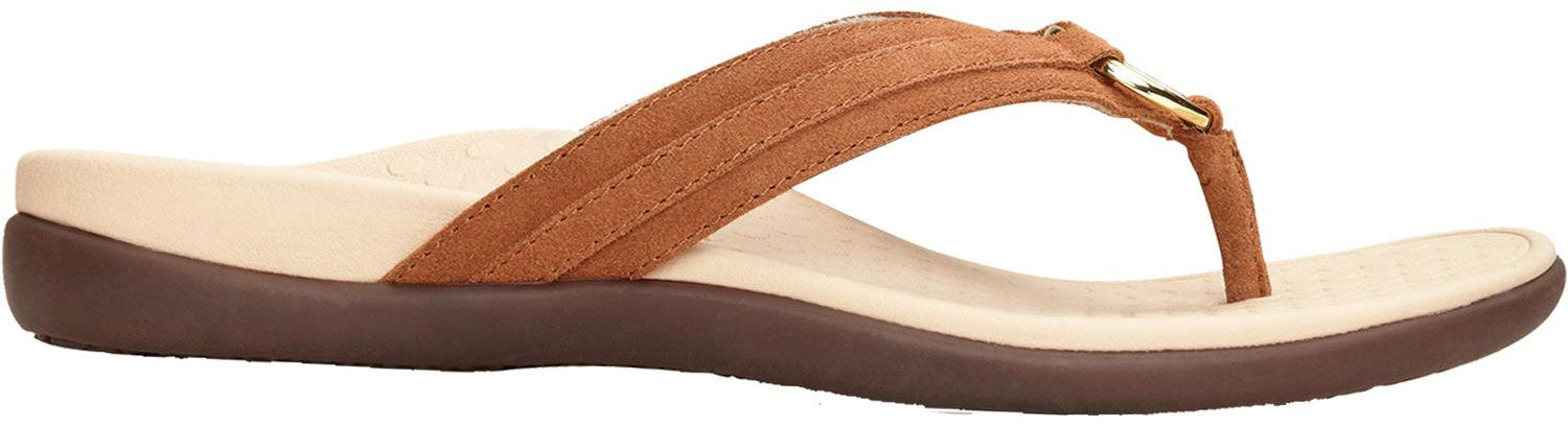 2f23a16263f90 Tide Aloe Toe Post Sandal in Toffee Suede Found at Mar-Lou Shoes in ...