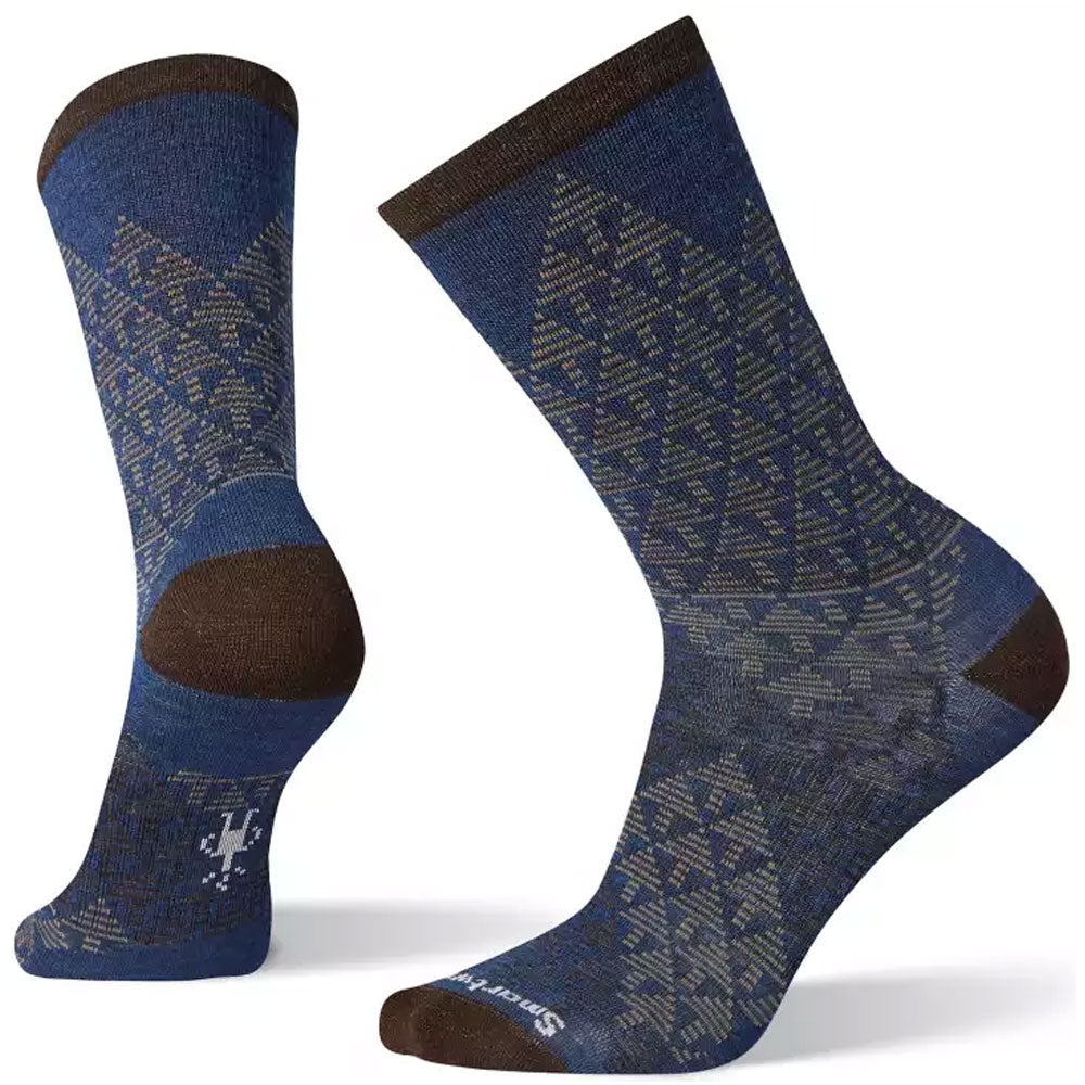 Smartwool Men's Pressure-Free Overland Crew Socks in Alpine Blue at Mar-Lou Shoes
