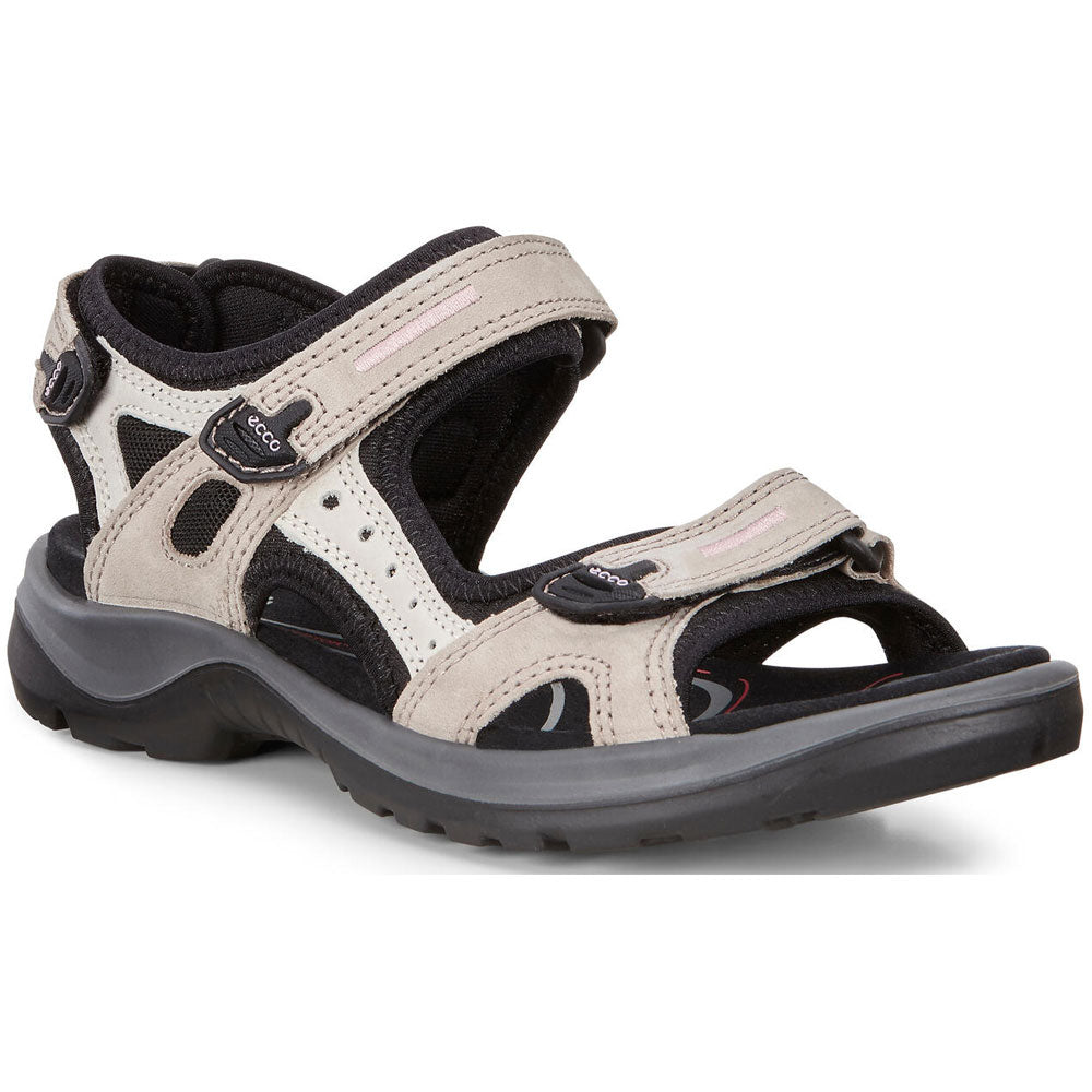 ECCO Women's Yucatan Sandal in Atmosphere/Ice with Black at Mar-Lou Shoes