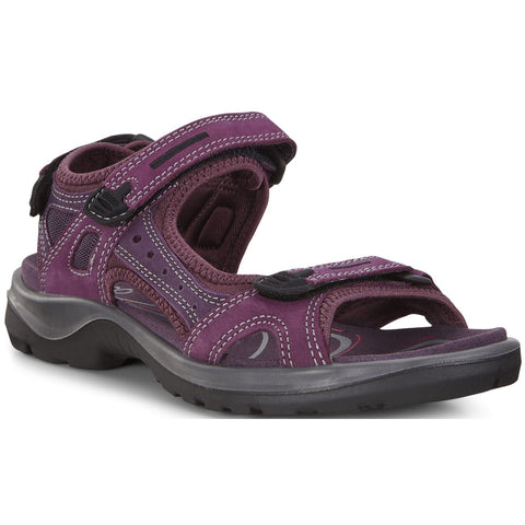 ECCO Women's Yucatan Sandal in Aubergine/Mauve at Mar-Lou Shoes