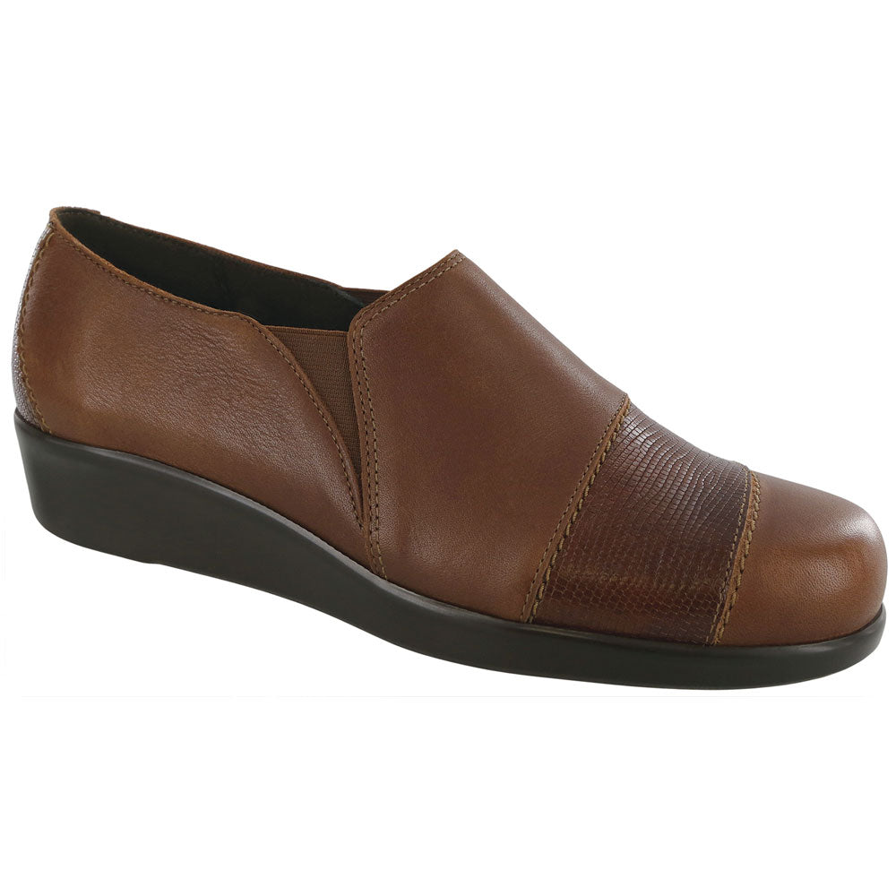 SAS Nora Loafer in Auburn Lizard at Mar-Lou Shoes