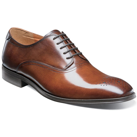 Belfast Medallion Toe Oxford in Cognac Multi