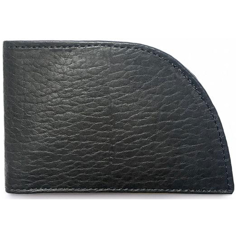 Rogue Front Pocket Wallet in Black Bison at Mar-Lou Shoes