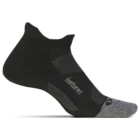 Unisex Elite Max Cushion No Show Tab Socks in Black
