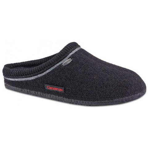 Giesswein Ammern Slipper in Black at Mar-Lou Shoes