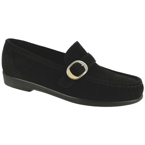 SAS Lara Loafer in Black Suede at Mar-Lou Shoes