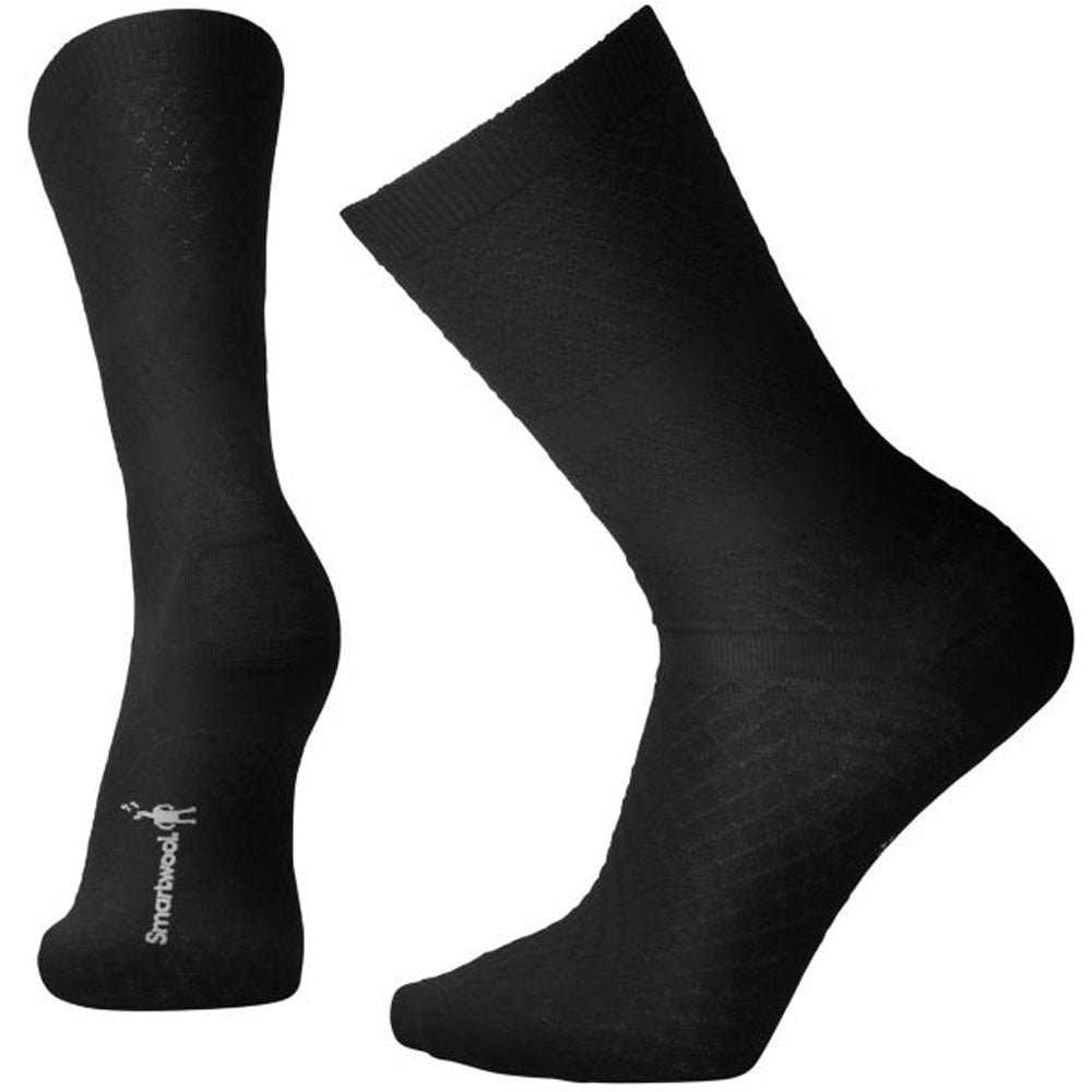 Women's Texture Crew Socks in Black