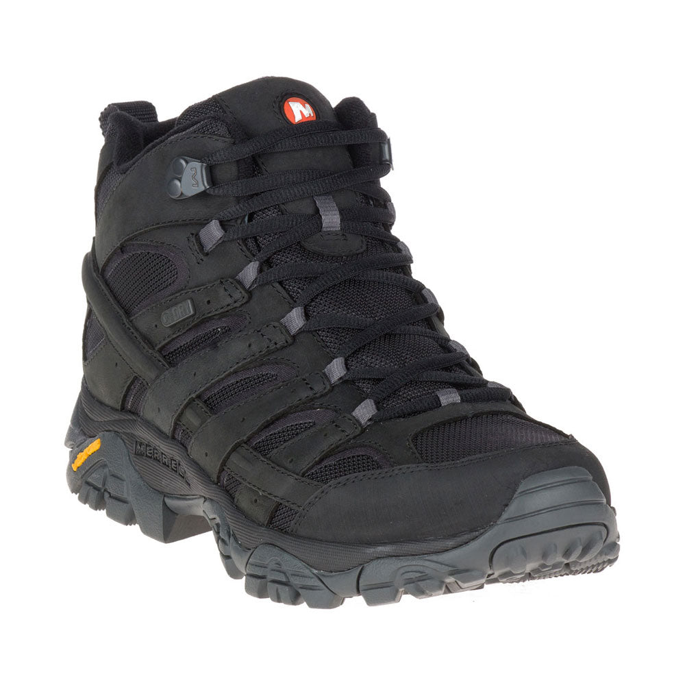 Men's Moab 2 Mid Waterproof in Black