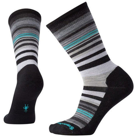 Jovian Stripe Crew Socks in Black