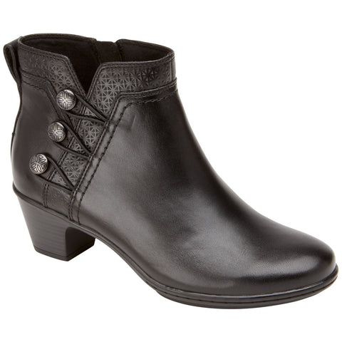 Cobb Hill Cobb Hill Kailyn Bootie in Black Leather at Mar-Lou Shoes