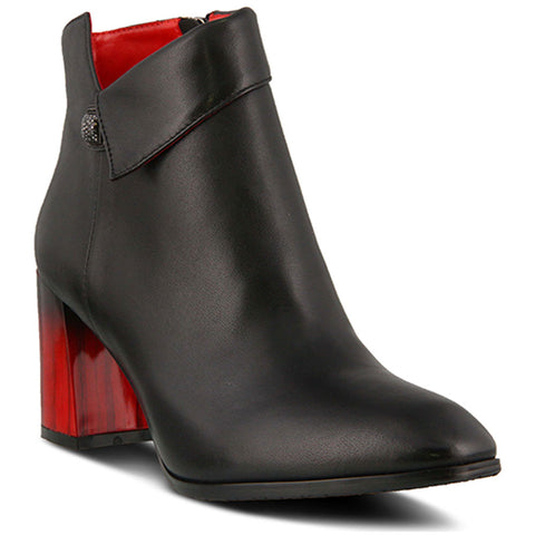 Spring Step Esmae Bootie in Black Leather at Mar-Lou Shoes