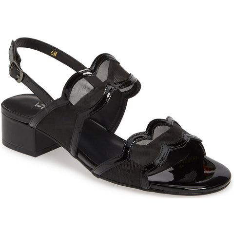 Hesper Sandal in Black Patent