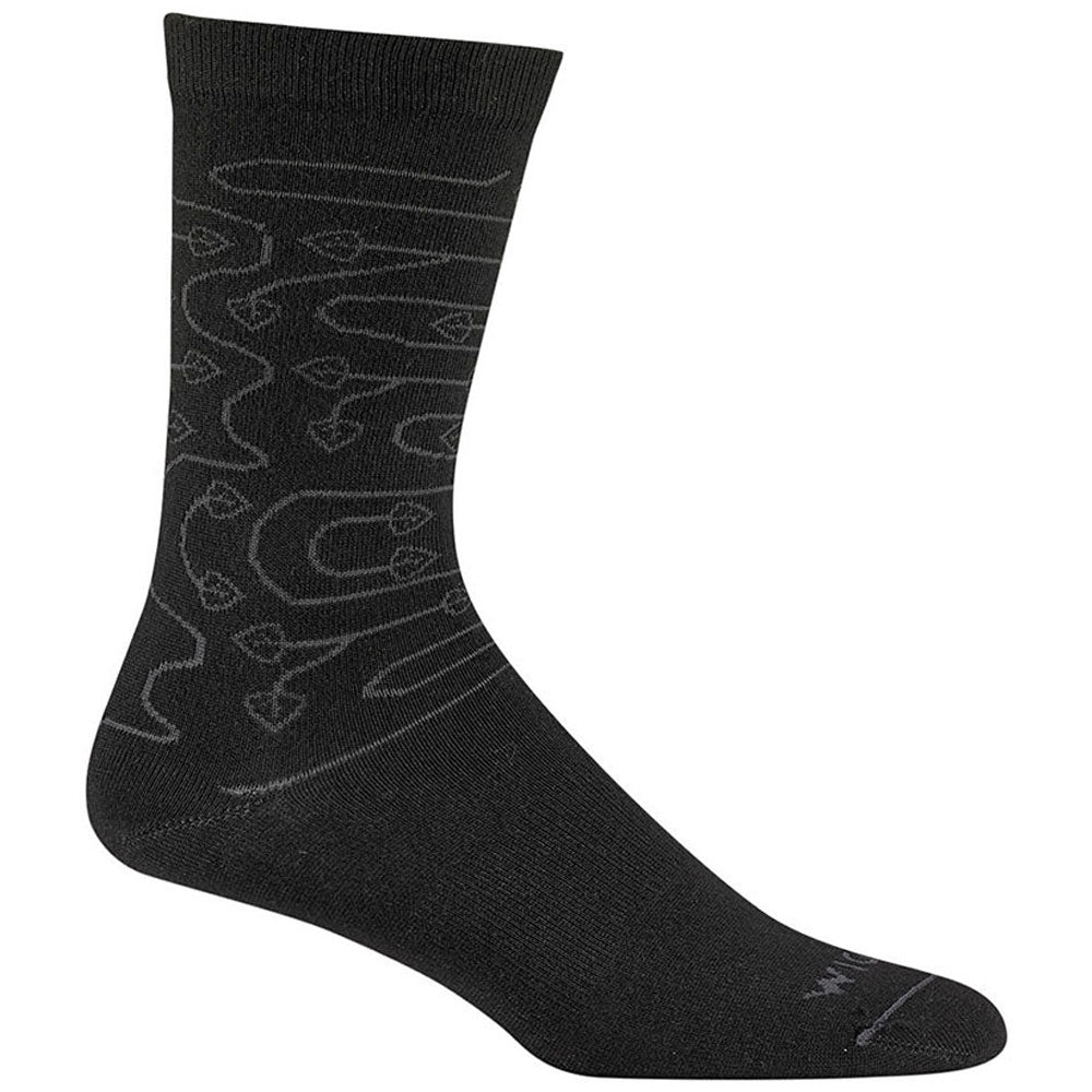 Women's D'Ivy Crew Socks in Black