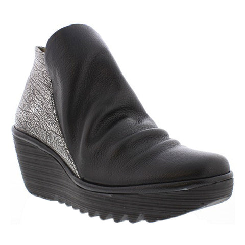 YIP Booties in Black/Antique Silver Combi