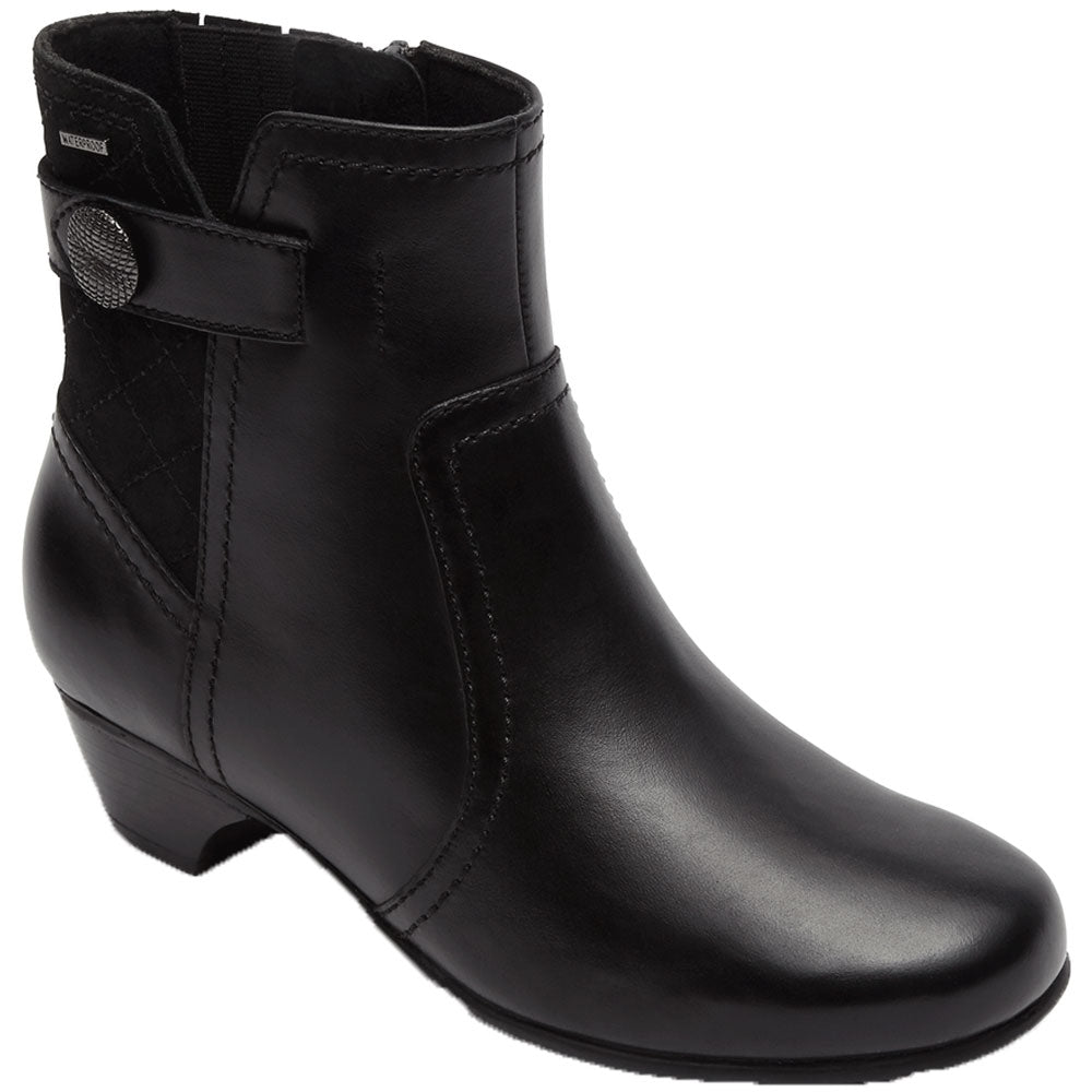 Aravon Patrina Waterproof Boot in Black Multi at Mar-Lou Shoes