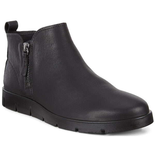 ECCO Bella Zip Low Bootie in Black Leather at Mar-Lou Shoes