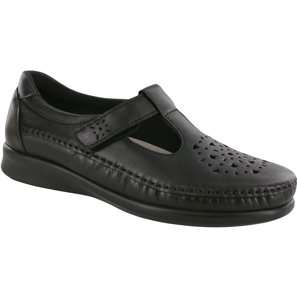 SAS Willow in Black Leather at Mar-Lou Shoes