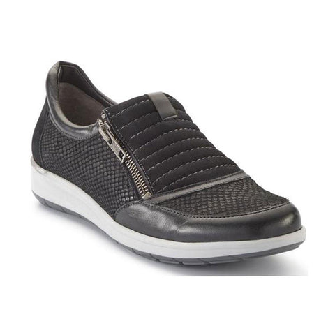 Walking Cradles Orion in Black Snake Print Nubuck Leather at Mar-Lou Shoes