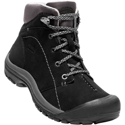 Keen Kaci Winter Waterproof Mid Boot in Black/Magnet Leather at Mar-Lou Shoes