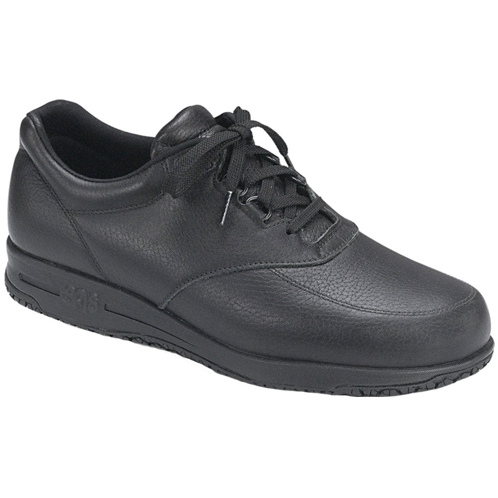 Guardian Water-Resistant Non-Slip Shoe in Black Leather