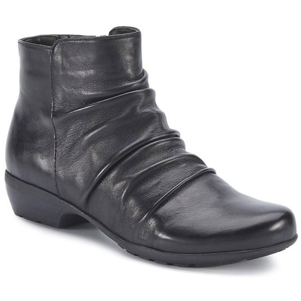 Walking Cradles Esme Bootie in Black Nappa Leather at Mar-Lou Shoes