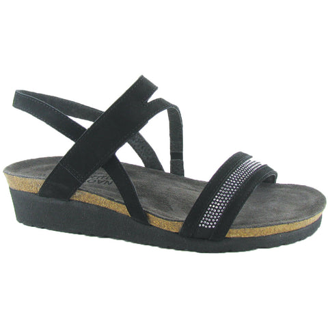 Cameron Sandal in Black Nubuck