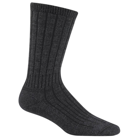 Women's Merino Silk Hiker Socks in Black