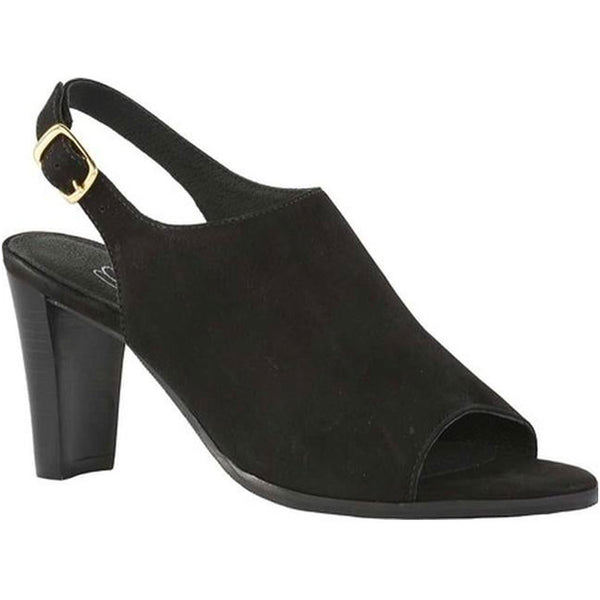 Gwen Sandal in Black Nubuck