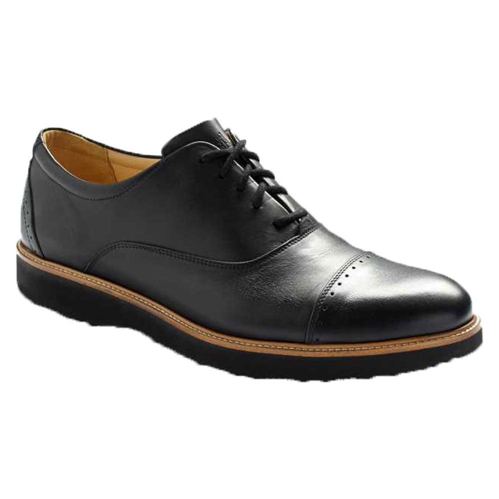 Market Cap Oxford in Black Leather