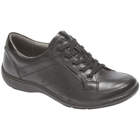 Aravon Bromly Oxford in Black Leather at Mar-Lou Shoes