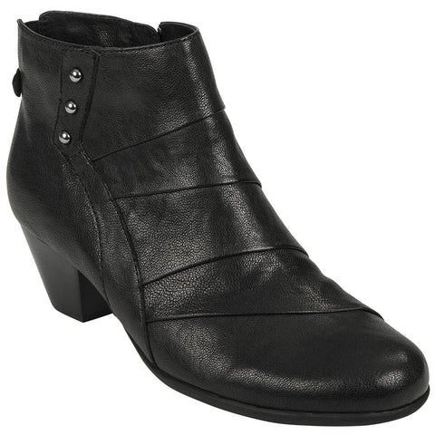 Hope Bootie in Black Leather