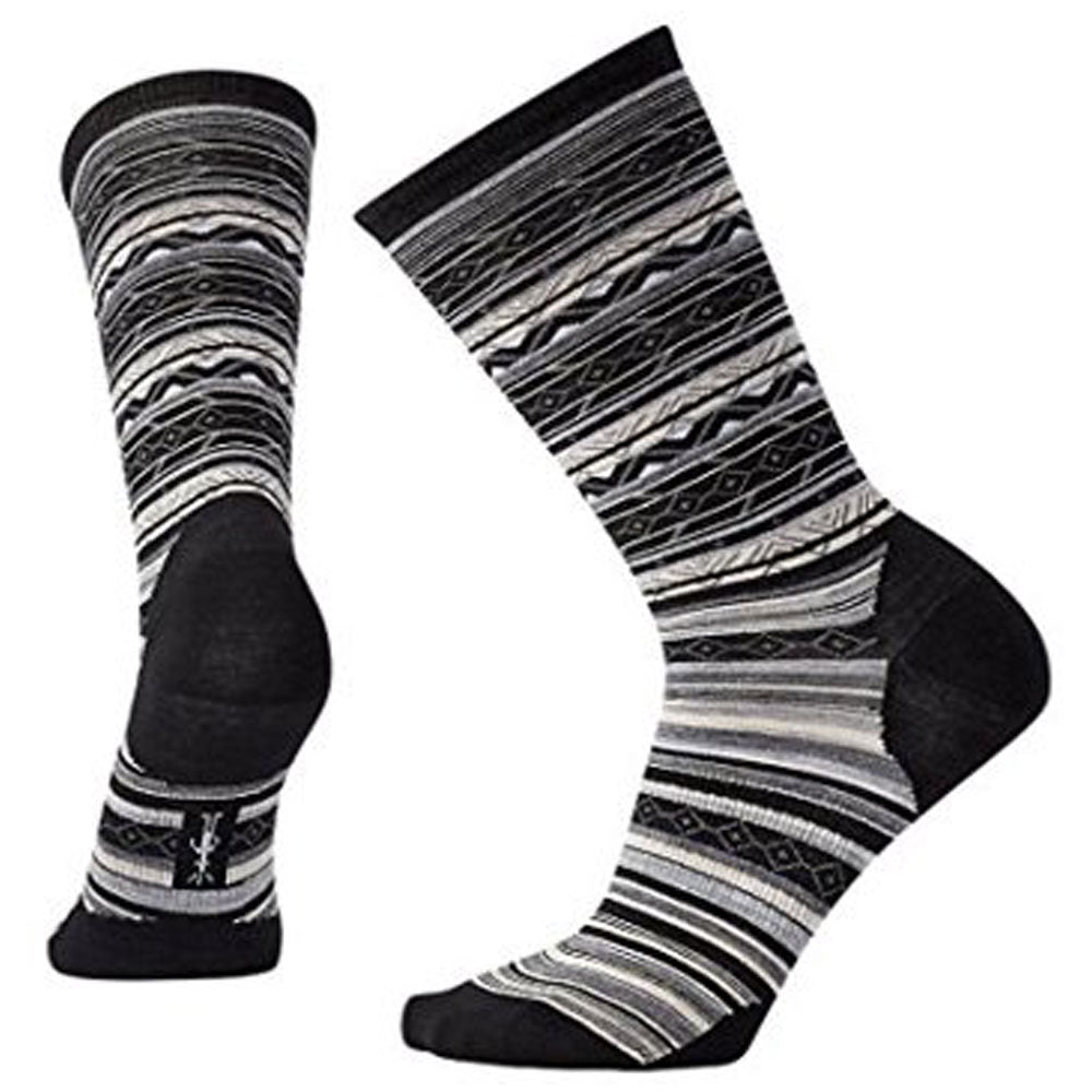 Smartwool Women's Ethno Graphic Crew Socks in Black at Mar-Lou Shoes