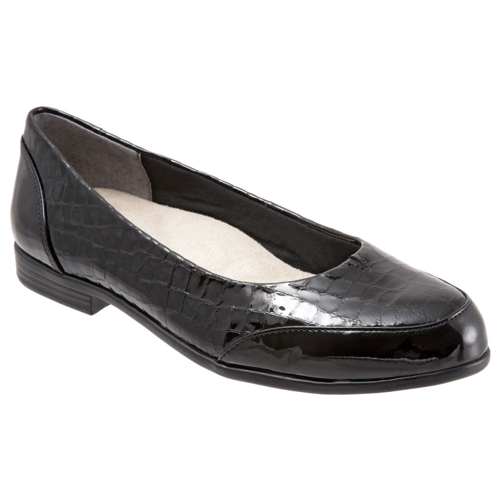Arnello in Black Crocodile/Patent Leather