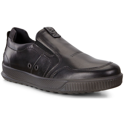 ECCO Byway Slip-On Sneaker in Black Leather at Mar-Lou Shoes