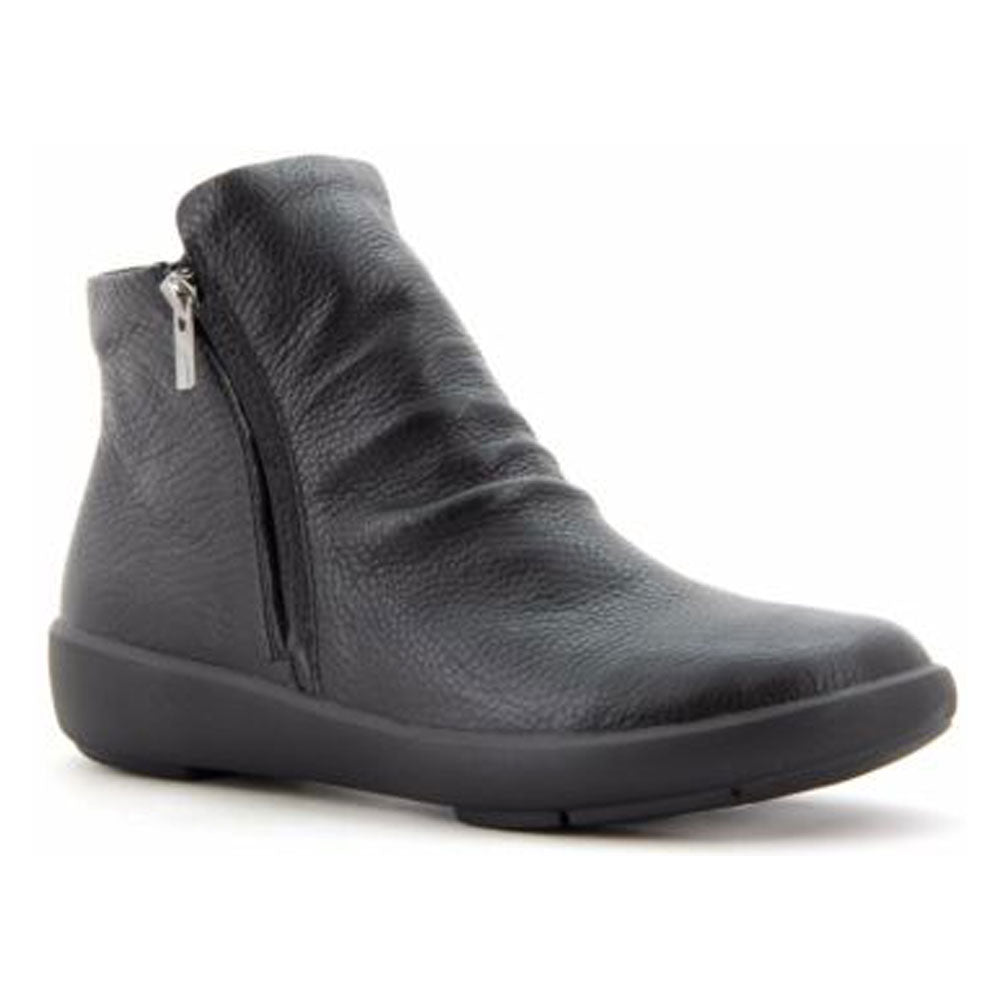 Ziera Sunrise Boot in Black Leather at Mar-Lou Shoes