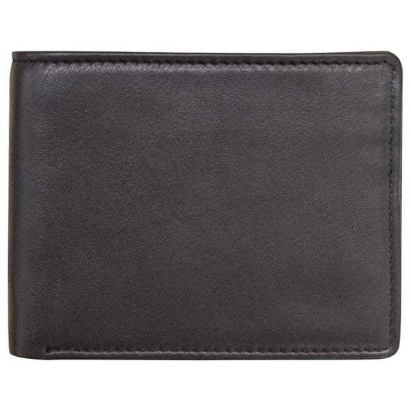 ILI New York RFID Bifold Wallet in Black Sheepskin at Mar-Lou Shoes