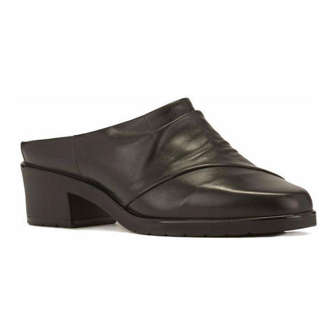 Cato Heel in Black Leather