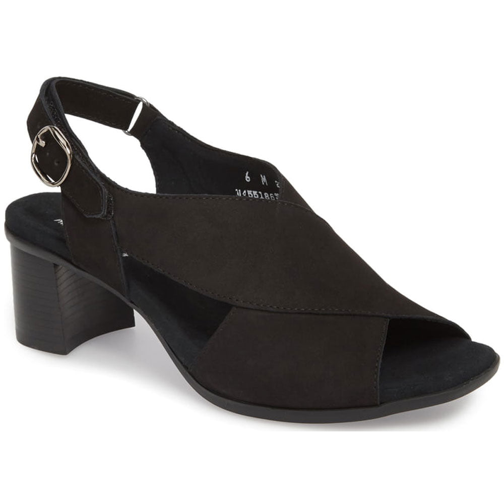 Laine Sandal in Black Nubuck