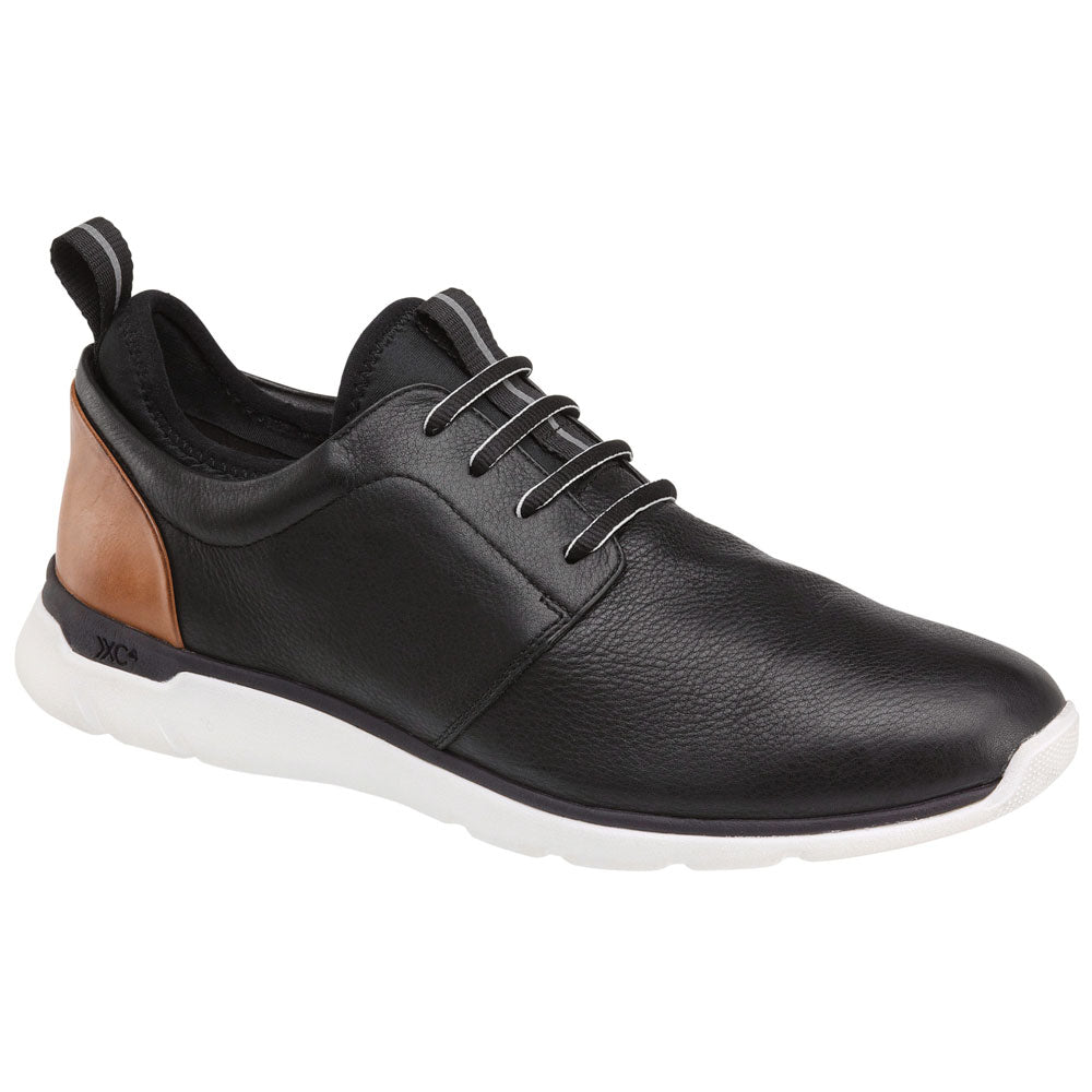 XC4® Prentiss Plain Toe in Black Waterproof Leather