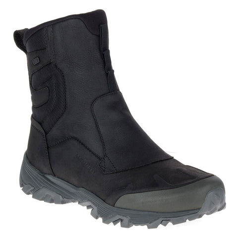 "Merrell ColdPack ICE+ 8"" Zip Waterproof Boot in Black Nubuck at Mar-Lou Shoes"