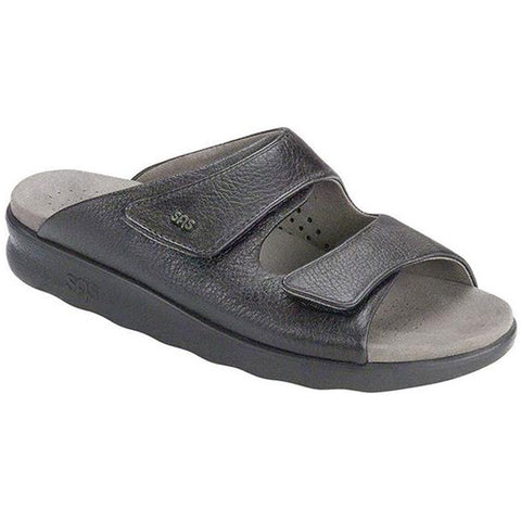 SAS Cozy Sandal in Black at Mar-Lou Shoes