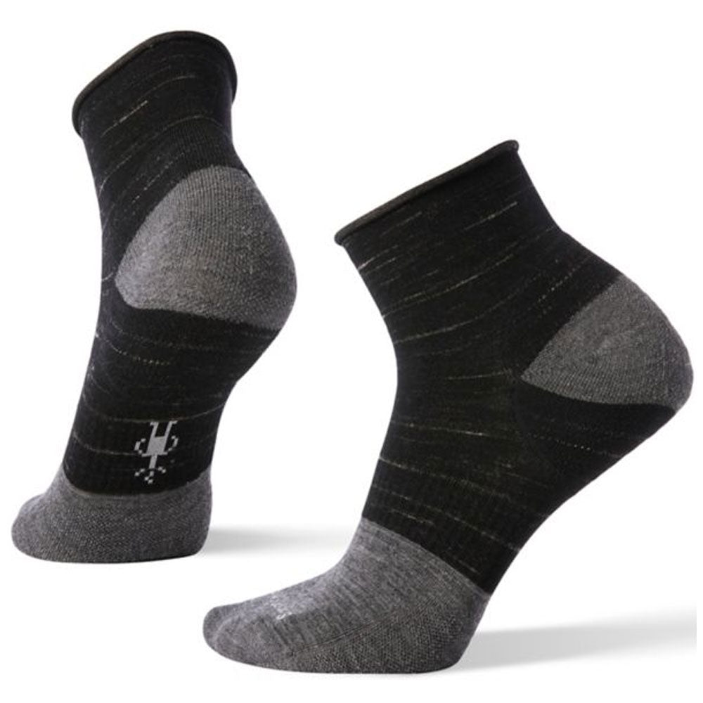 Smartwool Women's Luna Mini Boot Socks in Black Heather at Mar-Lou Shoes