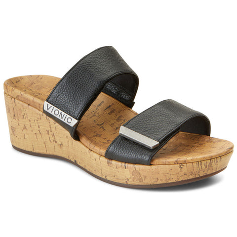 Pepper Sandal in Black Leather