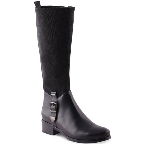 Aqua Diva Kelly Waterproof Boot in Black at Mar-Lou Shoes
