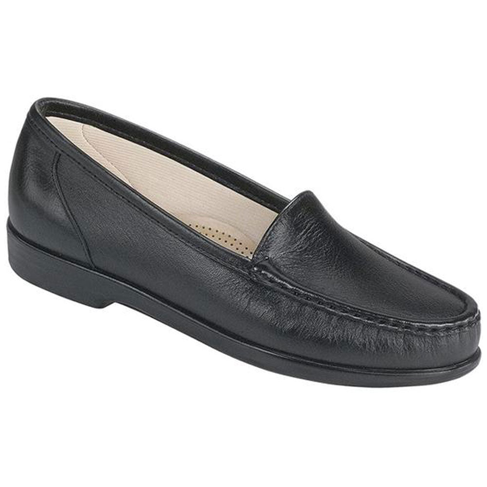 SAS Simplify Loafer in Black Leather at Mar-Lou Shoes