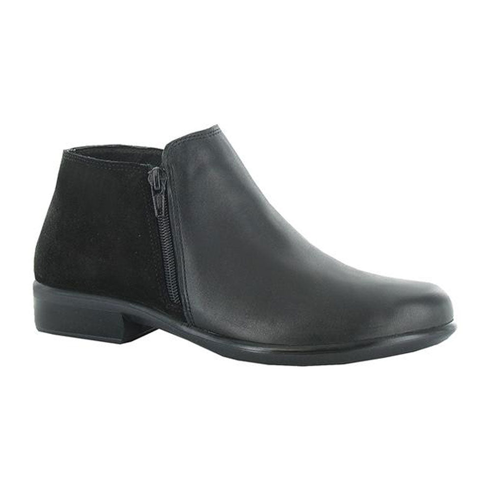 Helm Bootie in Black Raven/Black Suede at Mar-Lou Shoes